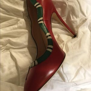Gucci Snake Red Heels